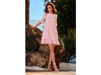 Lemoniade společenské šaty s volánky MM-114660 růžová