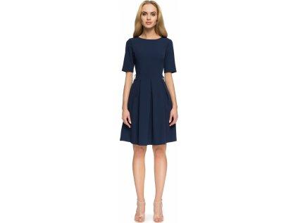 Style společenské šaty MM-112856 modrá