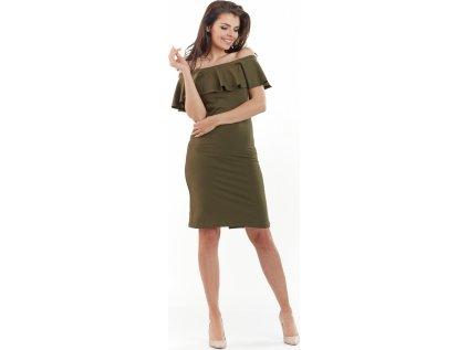 awama společenské šaty MM-117526 zelená