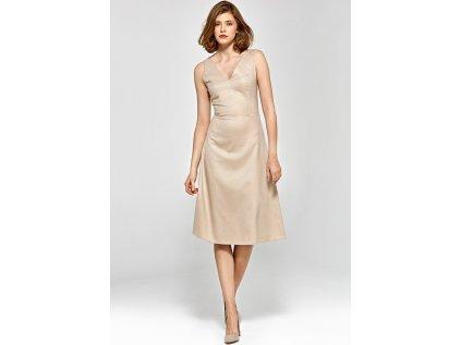 Colett společenské šaty MM-120638 béžová