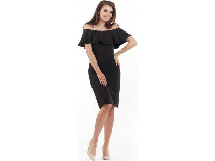 awama společenské šaty MM-117527 černá