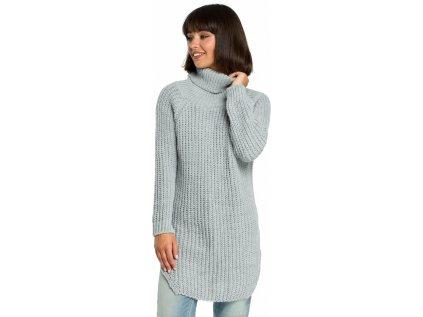BE Knit dlouhý svetr MM-121217 šedá