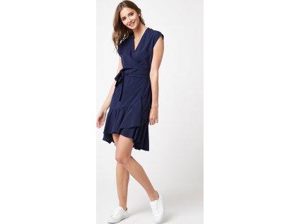 Lumide společenské šaty s volány MM-132185 modrá