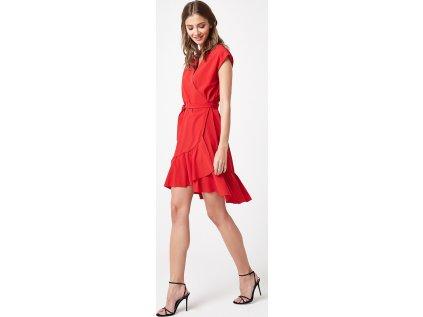 Lumide společenské šaty s volány MM-132186 červená