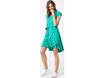 Lumide společenské šaty s volány MM-132188 zelená
