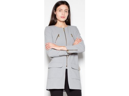 Venaton kabát MM-77422 šedá