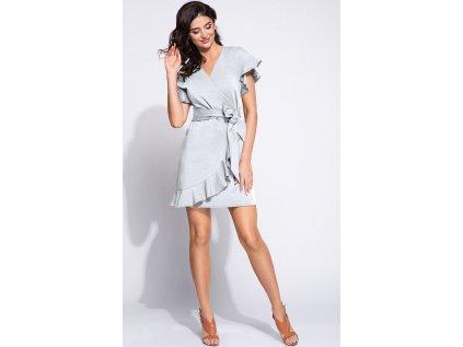 Bien Fashion společenské šaty MM-132821 šedá