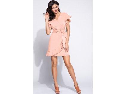 Bien Fashion společenské šaty s volány MM-132822 růžová