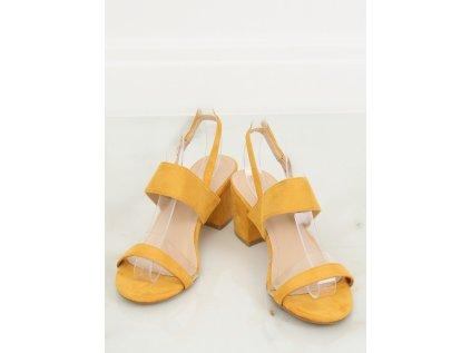 Inello sandály na podpatku MM-133058 žlutá