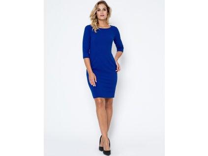 Bass společenské šaty RF-102760 modrá