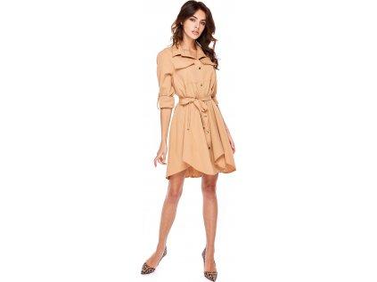 Oohlala denní šaty RF-130533 béžová