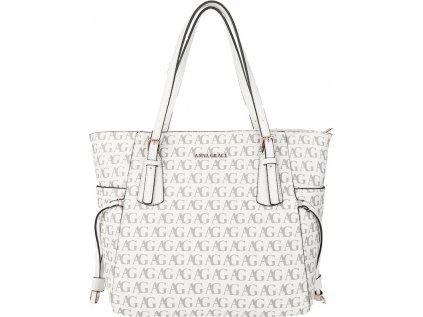 Anna Grace Luxusní kabelka AG00752P_WHITE bílá