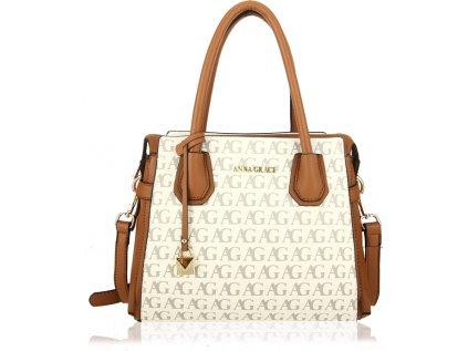 Anna Grace Luxusní kabelka AG00748_WHITE