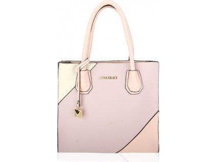 Anna Grace Luxusní kabelka AG00742_PURPLE/PINK