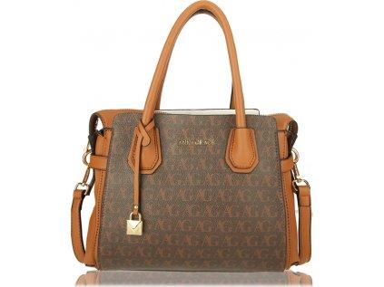 Anna Grace Luxusní kabelka AG00748_BROWN