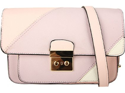 AG00746 - Purple / Pink Flap Cross Body Shoulder Bag