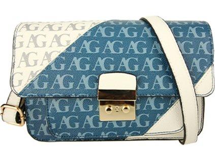 Anna Grace Luxusní kabelka AG00744_BLUE/WHITE