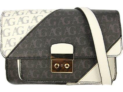 Anna Grace Luxusní kabelka AG00744_BLACK/WHITE