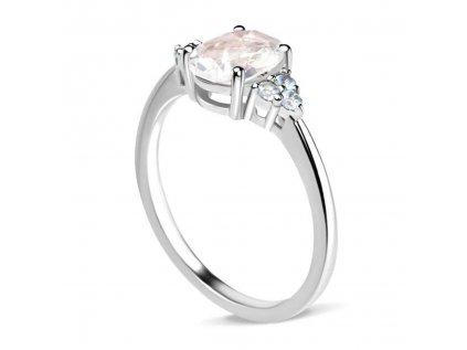 Emporial stříbrný Měsíční prsten s drahokamy modrými topazy