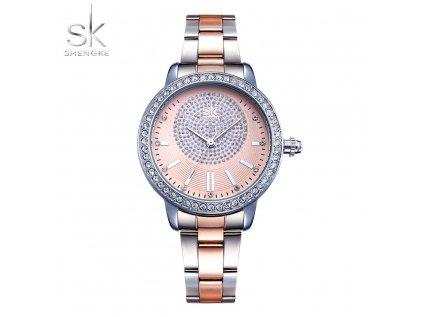 SK Shengke hodinky Luxury Rose Gold K0075_L01_SILVER