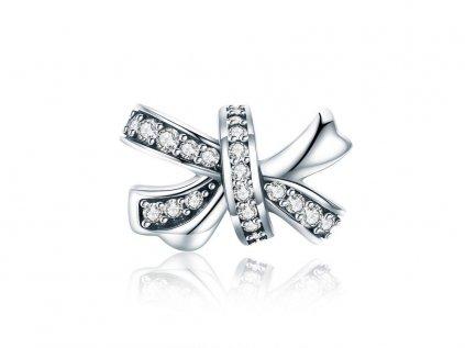 Royal Fashion stříbrný přívěsek Elegantní mašle SCC773