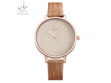 SK Shengke hodinky Casual Lightwood K0078_L02_LIGHTWOOD