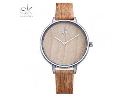 SK Shengke hodinky Casual Sandwood K0078_L01_SANDWOOD