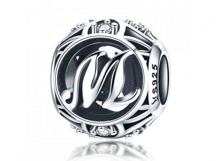 Royal Fashion stříbrný přívěsek písmenko M SCC738 M