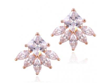 Náušnice 17KM Flora NC0118 krystaly