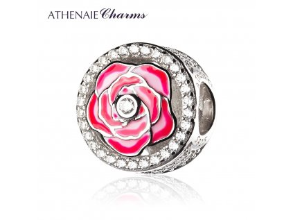 Athenaie přívěsek Červená růže lásky EN40