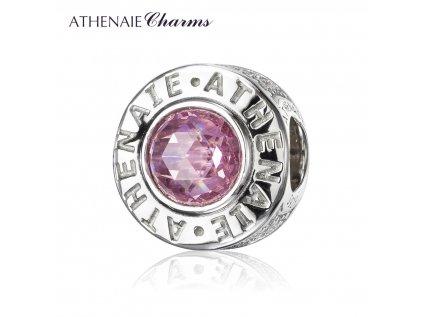 Athenaie přívěsek Křišťálové růžové kouzlo PAV58
