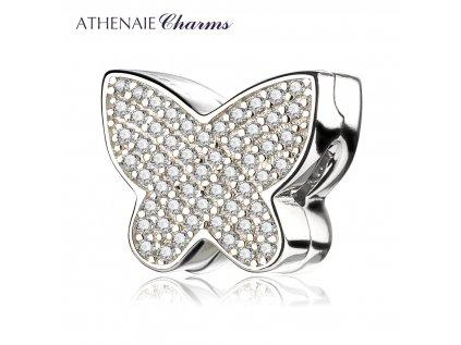 Athenaie přívěsek Klip Krásný motýl PAV32