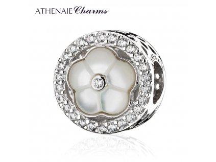 Athenaie přívěsek Romantická perleťová květina PAV110