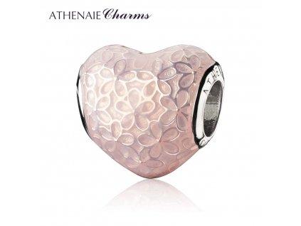 Athenaie přívěsek Srdce romantických květin EN32