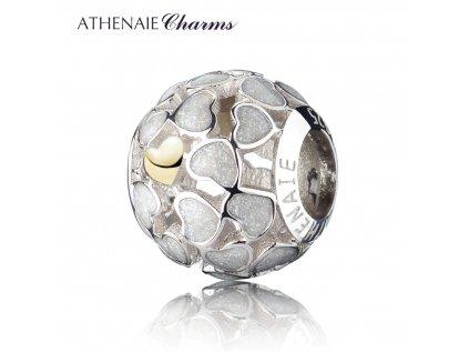 Athenaie přívěsek Pole srdcí EN02