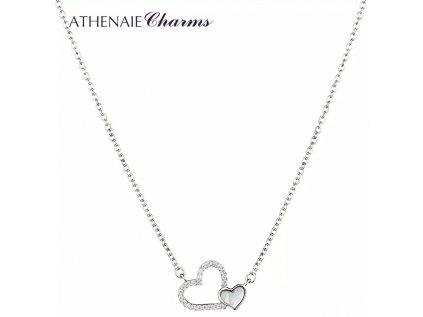 Athenaie náhrdelník Spojená srdce lásky NLS02
