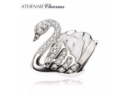 Athenaie přívěsek Elegantní třpytivá labuť EN29