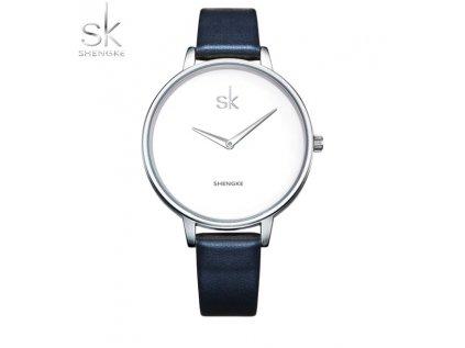 SK Shengke hodinky Classic K0046_SILVERDARKBLUE