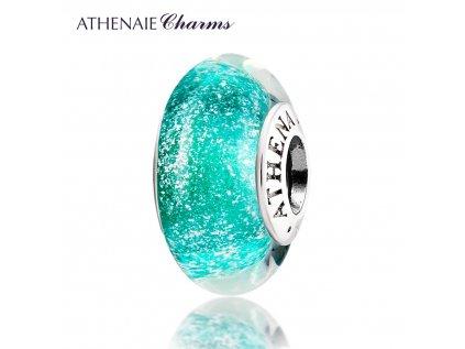 Athenaie přívěsek Zelené jiskřivé sklo Murano MNG131