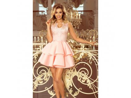 19ac03e9a4f9 Numoco dámské šaty krajkové koktejové růžové 207 3