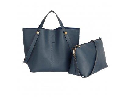 Luxusní set tmavě modrá kabelka do ruky crossbody