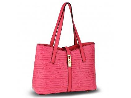 Elegantní růžová kabelka se vzorem značka Anna Grace