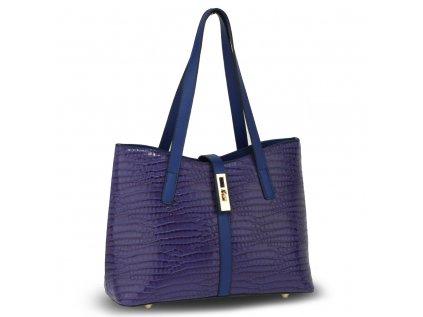 Elegantní modrá navy kabelka se vzorem značka Anna Grace