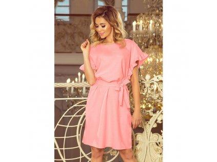 cf0afe691a03 Numoco dámské úplětové šaty růžové 229 1