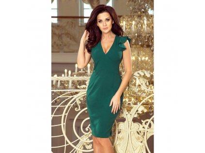 Numoco dámské šaty s výstřihem 227 1 zelené
