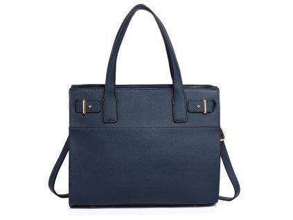tmavě modrá navy kabelka Anna Grace zlaté kování do ruky přes rameno
