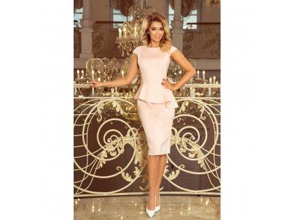 Numoco dámské pouzdrové šaty růžové192 8 2