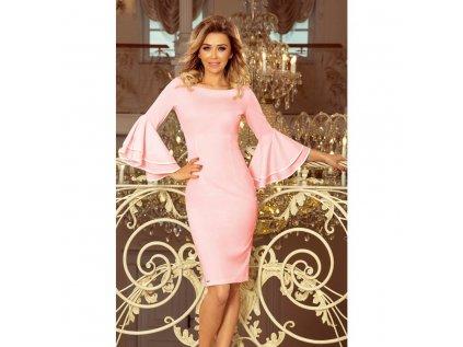 Numoco dámské pouzdrové šaty růžové 188 4