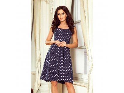 Numoco dámské puntíkované šaty modré 241 1