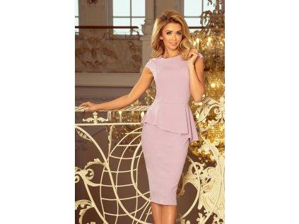 Numoco pouzdrové šaty s volány MM-116211 fialová